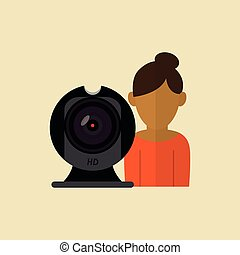 Technology icon. Gadget concept. Flat illustration