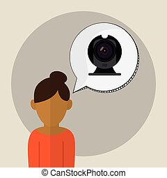 Technology icon. Gadget concept. Flat illustration , vector