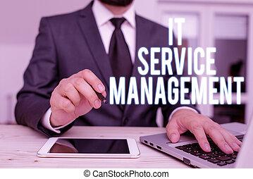 technology., il, dirigé, management., texte, policies, écriture, signification, activité, service, écriture, lifecycle, concept