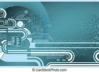 Technology - Illustration of abstract design background.