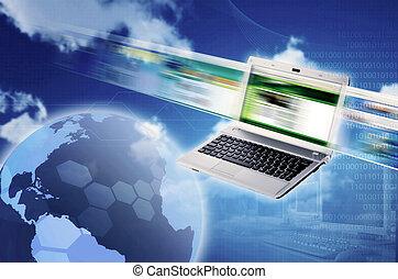 technology., image, elements., grand, technologie, ...