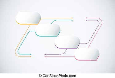 Technology infographic diagram connection content with thin line. business diagram for presentation. vector stock.