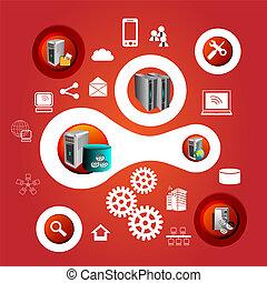technology infographics - Enterprise applications...