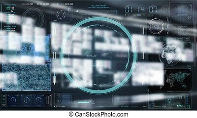 Technology Interaction. Digital background concept
