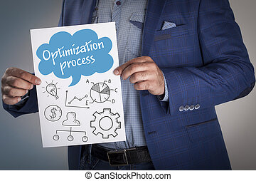 Technology, internet, business and marketing. Business analysis concept.Optimization process