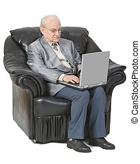 Technology is for everyone - Image of a senior man siting in...