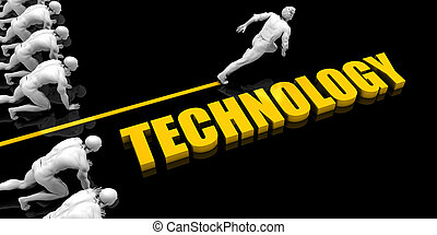 Technology Leader with a Man Having a Head Start