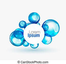 Technology liquid business emblem