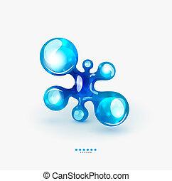 Technology liquid business emblem - Abstarct glossy water...