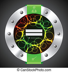 Technology login background design