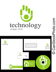 Technology Logo Design and corporate identity package...