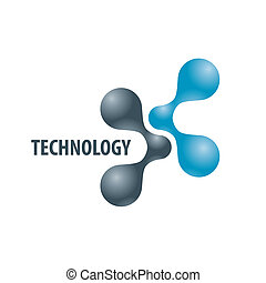 Technology logo in the form of atoms2 - Technology logo in...