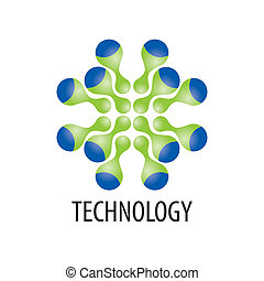 Technology logo in the form of atoms4