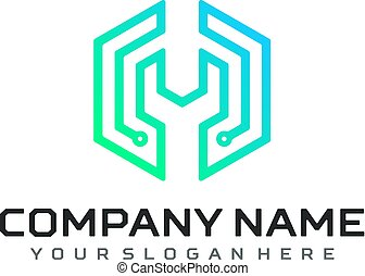 Technology logo vector template design