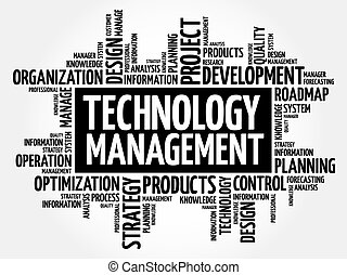 Technology Management word cloud