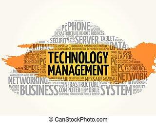 Technology Management word cloud