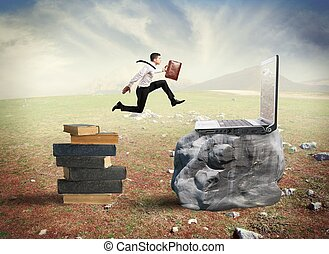 Technology migration - Concept of technology migration with...