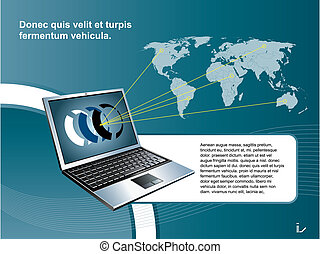 technology mobile communication background blue