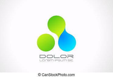 Technology nano molecule logo template. Abstract business icon.
