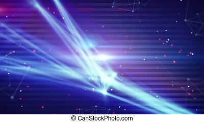 technology network light stripes. Computer generated...