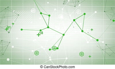 technology network loop green back