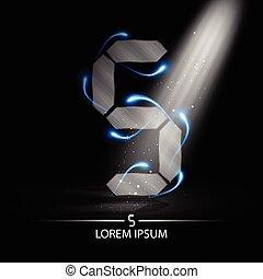 technology number five logo design vector