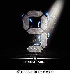 technology number nine logo design vector