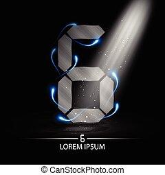 technology number six logo design vector