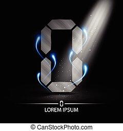 technology number zero logo design vector