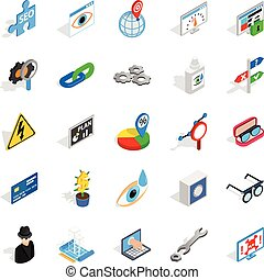 Technology of the future icons set