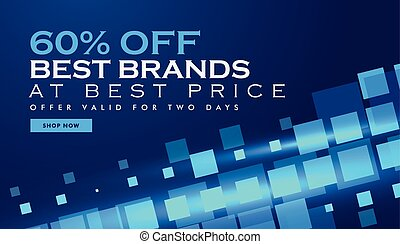 technology offer banner promotional template for marketing