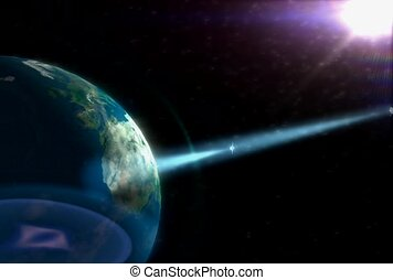 technology, outer space, planet