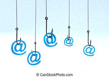 technology phishing concept - metaphor of identity theft ed ...