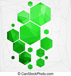 technology polygonal cell abstract background