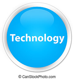 Technology premium cyan blue round button