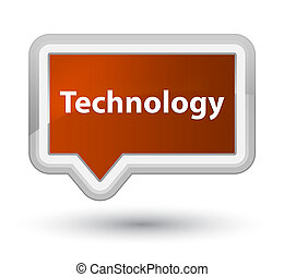 Technology prime brown banner button