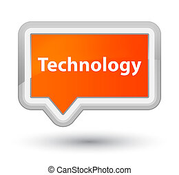 Technology prime orange banner button