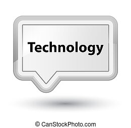 Technology prime white banner button