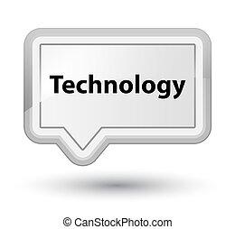 Technology prime white banner button