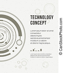 Technology report, flyer design template, brochure. Geometric Abstract Modern Backgrounds. Mobile Technologies, Applications and Online Services Infographic Concept. HUD, techno, business, gui, ui.