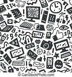 technology seamless pattern - technology - seamless vector...