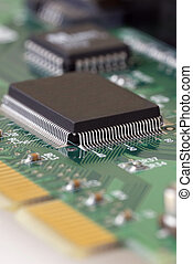 Technology - Serial ATA Card - Close-up image of a Serial...