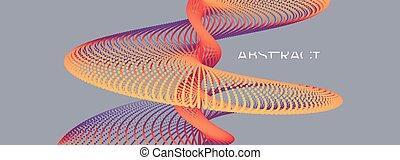 technology., serie, dinámico, design., ciencia, vector, 3d, ...