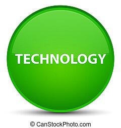 Technology special green round button