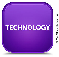 Technology special purple square button