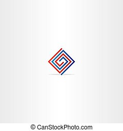 technology spiral square logo abstract icon