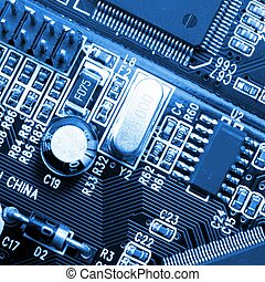 technology or computer background with micro chip