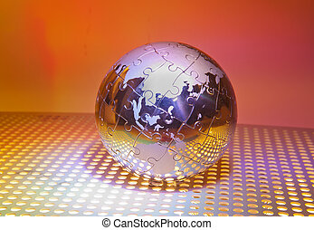 technology style against fiber optic background