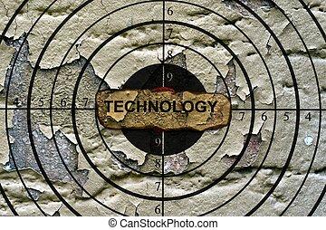 Technology target grunge concept