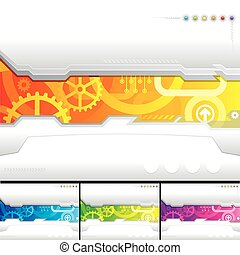 Technology Template - Set of technology template background,...